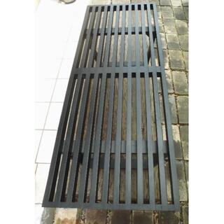 ネルソン-ベンチ Teak wood black/Old type(ローテーブル)