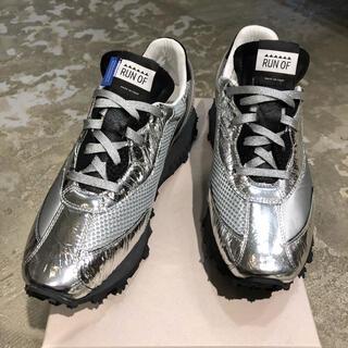 RUNOF 41サイズ Silver 異素材 スニーカー 新品未使用です!(スニーカー)