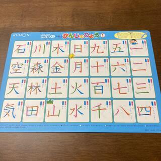 ショウガクカン(小学館)のくもん おふろでレッスン ミニ一年生漢字の表(知育玩具)