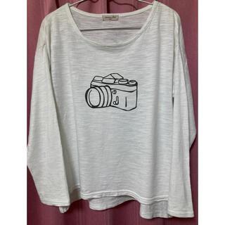 サマンサモスモス(SM2)のSamansa Mos2 プリントTシャツ(長袖)(Tシャツ(長袖/七分))