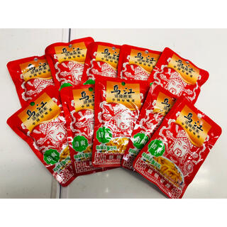 乌江涪陵榨菜 烏江ザーサイ 漬物 漬け物 鲜脆榨菜丝 清爽味 80g 10袋(漬物)