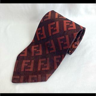 FENDI - FENDI フェンディ ネクタイ 総柄 総ロゴ イタリア製 シルク 絹