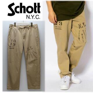 schott - 《ショット》新品訳有 ステンシルペイント クラフトチノパンツ 32 L(W83)