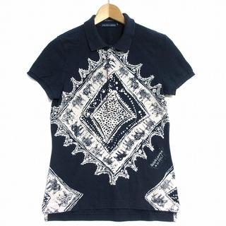 ラルフローレン(Ralph Lauren)のラルフローレン RALPH LAUREN ポロシャツ 半袖 スキニー 総柄(ポロシャツ)