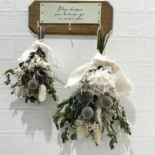 ドライフラワースワッグ マタニティフォト 壁掛けインテリア 壁飾り 花束ギフト (ドライフラワー)