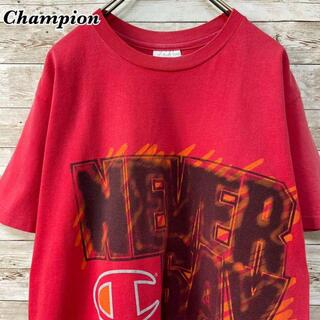 チャンピオン(Champion)の《USA製》チャンピオン ド派手プリント 刺繍ワッペン Tシャツ(Tシャツ/カットソー(半袖/袖なし))