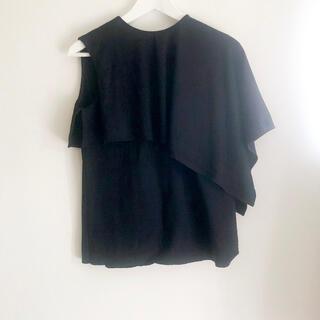 ルシェルブルー(LE CIEL BLEU)のblouse/black(シャツ/ブラウス(半袖/袖なし))