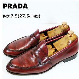 PRADA - プラダ サイズ:7.5(27.5cm相当) コイン ローファー ペニー メンズ