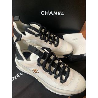 CHANEL - 【新品】CHANEL スニーカー 37 23.5 ホワイト 白 シャネル