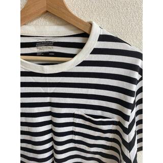 ムジルシリョウヒン(MUJI (無印良品))の無印 MUJI 半袖 ボーダー Tシャツ Mサイズ(Tシャツ/カットソー(半袖/袖なし))