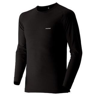 モンベル(mont bell)のモンベル ジオライン EXP. ラウンドネックシャツ 黒(Tシャツ/カットソー(七分/長袖))