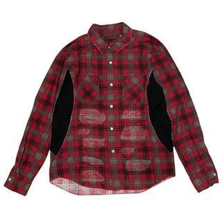 アンダーカバー(UNDERCOVER)の38-126)アンダーカバー 05SS BUT2 リペア加工チェックシャツ 2(シャツ)