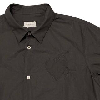 アンダーカバー(UNDERCOVER)の36-99)アンダーカバー 13AW ハート心臓 刺繍 長袖シャツ ブラック 3(シャツ)