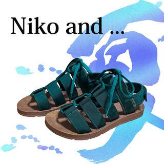 ニコアンド(niko and...)のniko and ...リボンテープサンダル(サンダル)