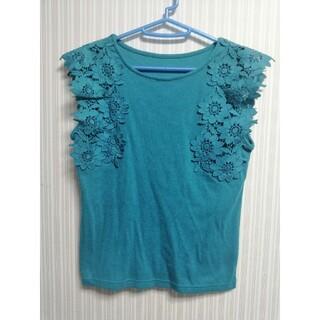 ヴィス(ViS)のお値下げ♦[新品未使用] Vis フラワーショルダーTシャツ(Tシャツ(半袖/袖なし))