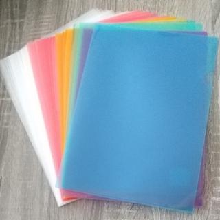 クリアファイル 半透明 カラー 計30枚 まとめ売り(クリアファイル)