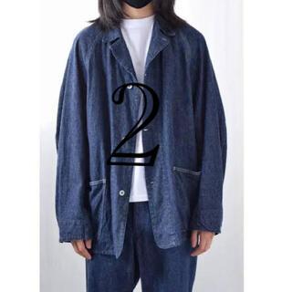 コモリ(COMOLI)の21fw comoli デニムワークジャケット 2 navy 新品(Gジャン/デニムジャケット)