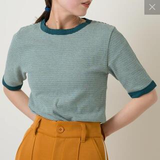 カスタネ(Kastane)のkastane テレコボーダーリンガーTEE(Tシャツ(半袖/袖なし))