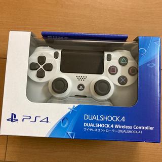 プレイステーション4(PlayStation4)のPS4純正ワイヤレスコントローラ白(DUALSHOCK4)新品未開封(その他)