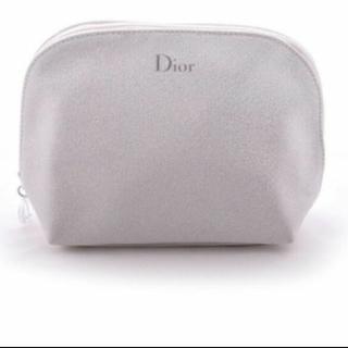 ディオール(Dior)のディオール ホワイト ラメ ポーチ(ポーチ)