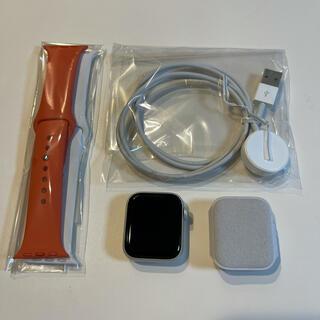 アップル(Apple)のApple Watch 5 GPSモデル 40mm 純正バンド2本セット 美品(その他)