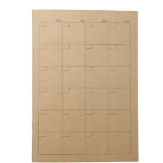 ムジルシリョウヒン(MUJI (無印良品))のMUJI 無印良品 スケジュール帳 カレンダー ノート マンスリーA5 32枚(カレンダー/スケジュール)
