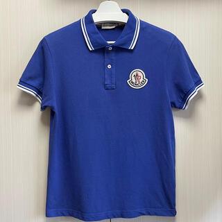 MONCLER - MONCLER モンクレール ポロシャツ ブルー L 正規品 超美品