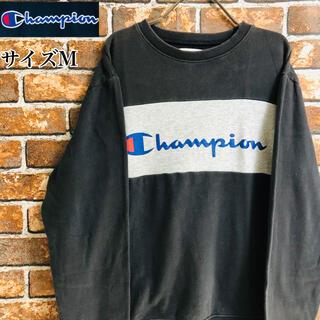 チャンピオン(Champion)の【希少】チャンピオン90s スウェットトレーナー サイズM デカロゴブラック(スウェット)