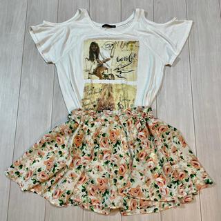 ヘザー(heather)のHEATHER  半袖とスカート セット(Tシャツ(半袖/袖なし))
