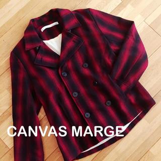 キャンバスマージ(CANVAS MERGE)の早いもの勝ち CANVAS MARGE  メンズ アウター ピーコート L(ピーコート)