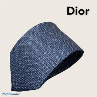 ディオールオム(DIOR HOMME)のDior ディオール オム ネクタイ ブルー CD ロゴ(ネクタイ)