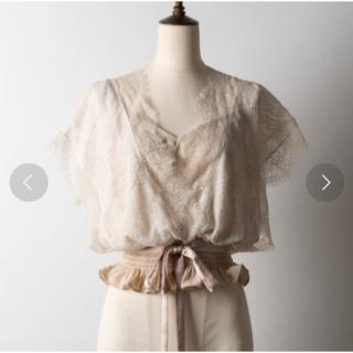 ラベルエチュード(la belle Etude)のLA BELLE ETUDE カシュクールレースブラウス(シャツ/ブラウス(半袖/袖なし))