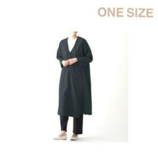 ムジルシリョウヒン(MUJI (無印良品))の◆新品◆ 無印良品  ダブルガーゼ羽織り/ONESIZE/黒(ロングコート)