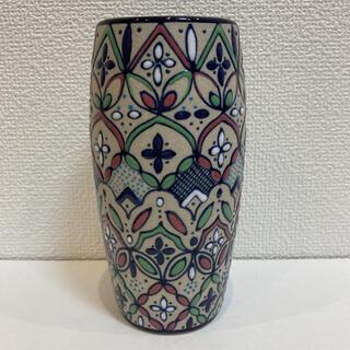 新品 メキシコ高級陶器 セルビン焼き飾り花瓶 ピンク(花瓶)