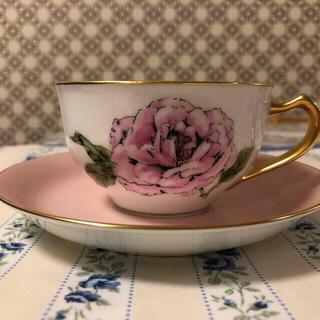 オオクラトウエン(大倉陶園)の大倉陶園 薔薇 カップ&ソーサー クィーンエリザベス 未使用品 ビンテージ(食器)