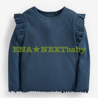 ●ティールブルー リブ ジャージーTシャツ(ヤンガー)