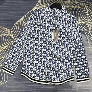 ディオール(Dior)の高品質レタープリントロゴ長袖シャツ(シャツ)