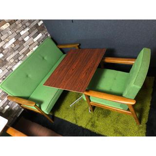 カリモクカグ(カリモク家具)のカリモク60 Kチェア1シーター&2シーター&カフェテーブル 3点セット(二人掛けソファ)