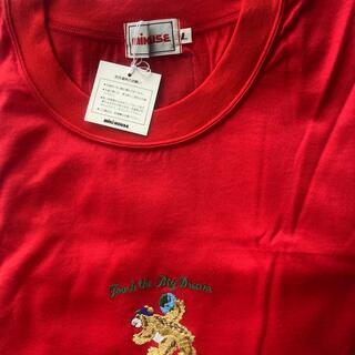 ミキハウス(mikihouse)のミキハウス 大人 L  赤 Tシャツ 未使用 半袖 メンズでも(Tシャツ(半袖/袖なし))