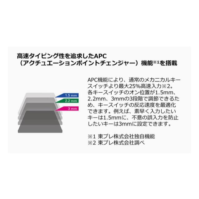 富士通(フジツウ)のREALFORCE R2SA PFU Limited Edition 英語配列 スマホ/家電/カメラのPC/タブレット(PC周辺機器)の商品写真