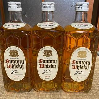 サントリー(サントリー)のサントリー白角 終売品 700ml 3本セット新品未開封(ウイスキー)