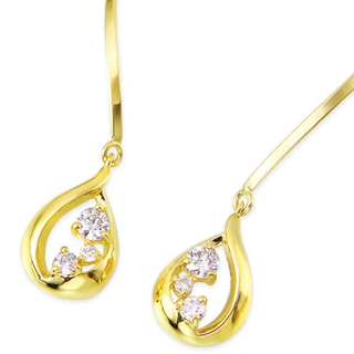 ジュエリーツツミ(JEWELRY TSUTSUMI)のK18イエローゴールドダイヤモンドピアス(ピアス(両耳用))