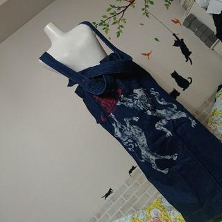 ヴィヴィアンウエストウッド(Vivienne Westwood)のVivienne Westwood 新品 オーブ デニム 吊り スカート(ロングスカート)