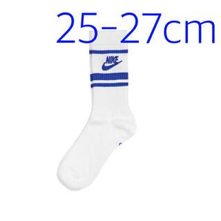 ナイキ(NIKE)の【完売品】NIKE スニーカーソックス 靴下 白青 ホワイト ブルー 1足(ソックス)