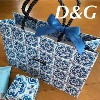 ドルチェアンドガッバーナ(DOLCE&GABBANA)のドルチェアンドガッバーナ  限定 ショッパー 紙袋 ブルー 新品未使用(ショップ袋)