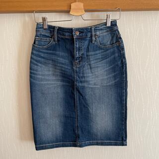 ムジルシリョウヒン(MUJI (無印良品))のデニム タイトスカート(ひざ丈スカート)