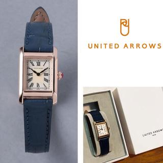 【新品】UNITED ARROWS NAVY×GOLD レディス 腕時計