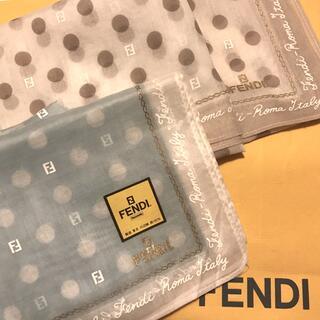 FENDI - 未使用 フェンディ ハンカチスカーフ     2枚SET  ズッカ &ドット