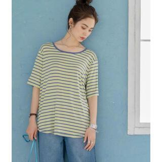 コーエン(coen)の新品☆coen ラウンドネックとろみボーダーTシャツ(Tシャツ(半袖/袖なし))