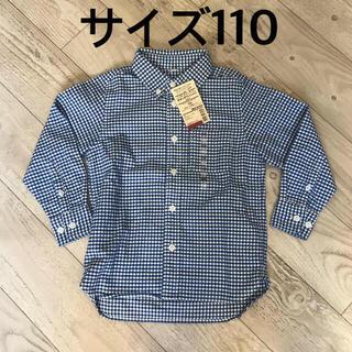 ムジルシリョウヒン(MUJI (無印良品))のサイズ110  ボタンダウンシャツ(ブラウス)
